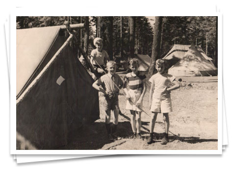 Camp Barnard early days